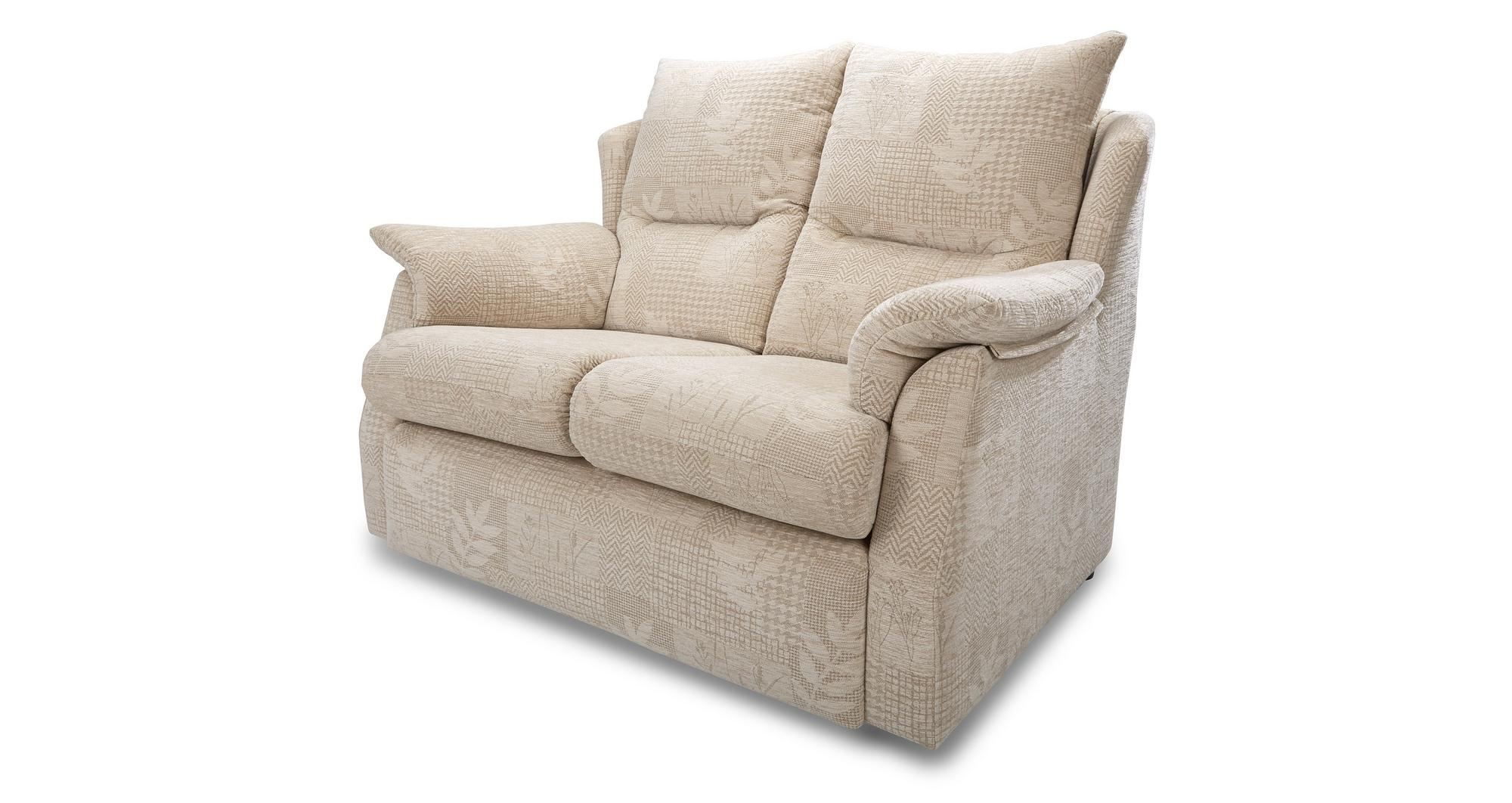 Dfs stow cream fabric small 2 seater sofa and manual for Small cream sofa