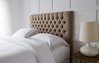 Strand Double (4 ft 6) Headboard Faux Linen