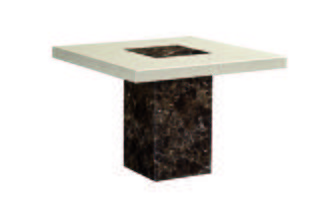 Square Table Strasbourg Marble