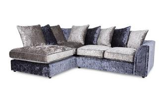 Right Hand Facing Arm 2 Piece Corner Sofa Glitz