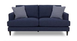Tate Plain and Pattern Large Sofa
