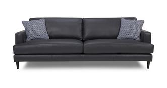 Tate Leather and Pattern Extra Large Sofa