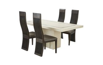 Fixed Dining Table & Set of 4 Nazca Chairs Taverna