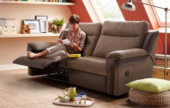 Tawny 3 Seater Manual Recliner Liston
