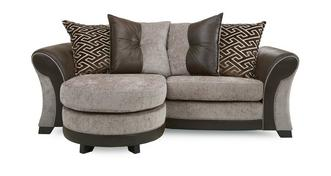 Theo 3 Seater Pillow Back Lounger