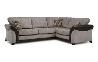 Left Hand Facing Formal Back 3 Seater Corner Sofa Eternity