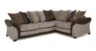 Theo Left Hand Facing Pillow Back 3 Seater Corner Sofa