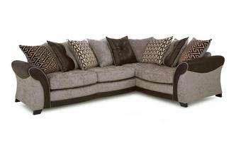Left Hand Facing Pillow Back 3 Seater Corner Sofa Eternity