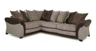 Theo Right Hand Facing Pillow Back 3 Seater Corner Sofa