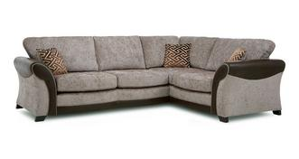 Theo Left Hand Facing Formal Back 3 Seater Deluxe Corner Sofa Bed