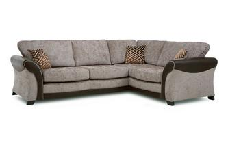 Left Hand Facing Formal Back 3 Seater Deluxe Corner Sofa Bed Eternity