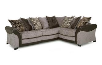 Left Hand Facing Pillow Back 3 Seater Deluxe Corner Sofa Bed Eternity