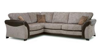 Theo Right Hand Facing Formal Back 3 Seater Deluxe Corner Sofa Bed