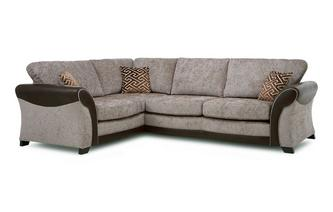 Right Hand Facing Formal Back 3 Seater Deluxe Corner Sofa Bed Eternity