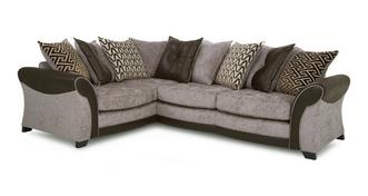 Theo Right Hand Facing Pillow Back 3 Seater Deluxe Corner Sofa Bed