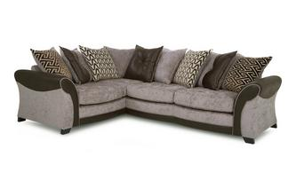 Right Hand Facing Pillow Back 3 Seater Deluxe Corner Sofa Bed Eternity