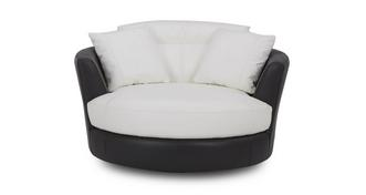 Thrive Leather and Leather Look Large Swivel Chair