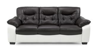Thrive Leather and Leather Look 3 Seater Sofa