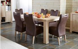 Tigre Small Fixed Table and 4 Zardos Chairs Tigre Oak