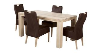 Tigre Medium Fixed table and 4 Zardos Chairs