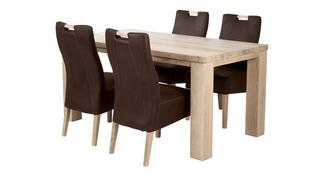 Tigre Large Fixed Table and 4 Zardos Chairs