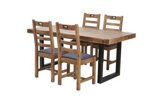 Fixed Table & Set of 4 Ottawa Chairs