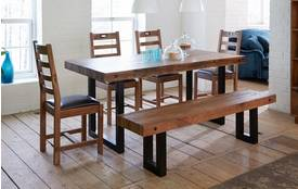 Toronto Fixed Table & Set of 4 Ladderback Chairs Toronto