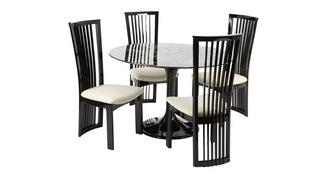 Trattoria Fixed Circular Table and 4 Sante Fe Chairs