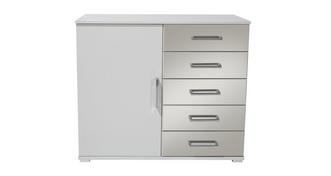 Trend Combi Chest 1 Door 5 Mirrored Drawers
