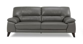 Trident Leather and Leather Look 3 Seater Sofa