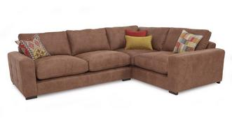 Turin Left Hand Facing 3 Seater Formal Back Corner Sofa
