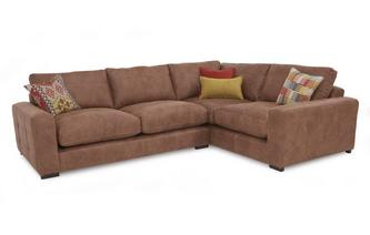 Left Hand Facing 3 Seater Formal Back Corner Sofa Turin