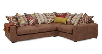 Turin Left Hand Facing 3 Seater Pillow Back Corner Sofa
