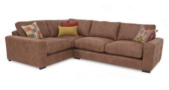 Turin Right Hand Facing 3 Seater Formal Back Corner Sofa