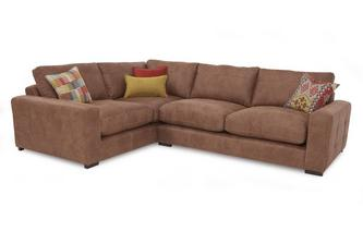 Right Hand Facing 3 Seater Formal Back Corner Sofa Turin