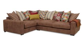Turin Right Hand Facing 3 Seater Pillow Back Corner Sofa