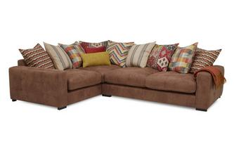 Right Hand Facing 3 Seater Pillow Back Corner Sofa Turin