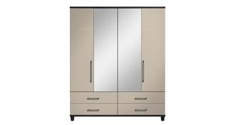 Varley 4 Door Mirror Robe with Drawers
