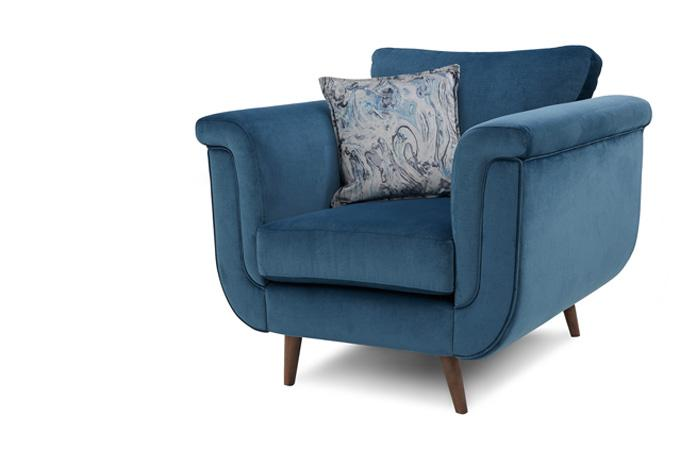 Topaz Velvet Teal Chair