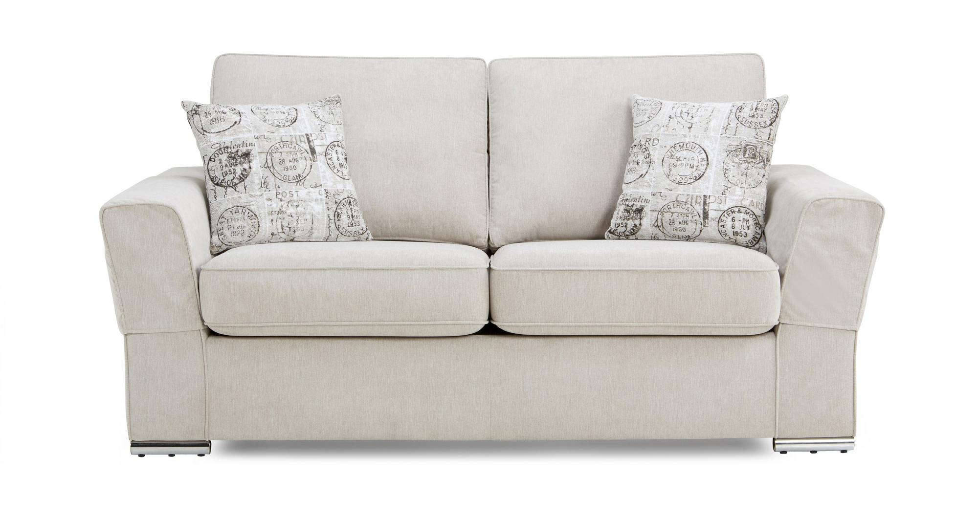 Dfs Vettel Silver Fabric 2 Seater Sofa Bed 2 Scatters Ebay