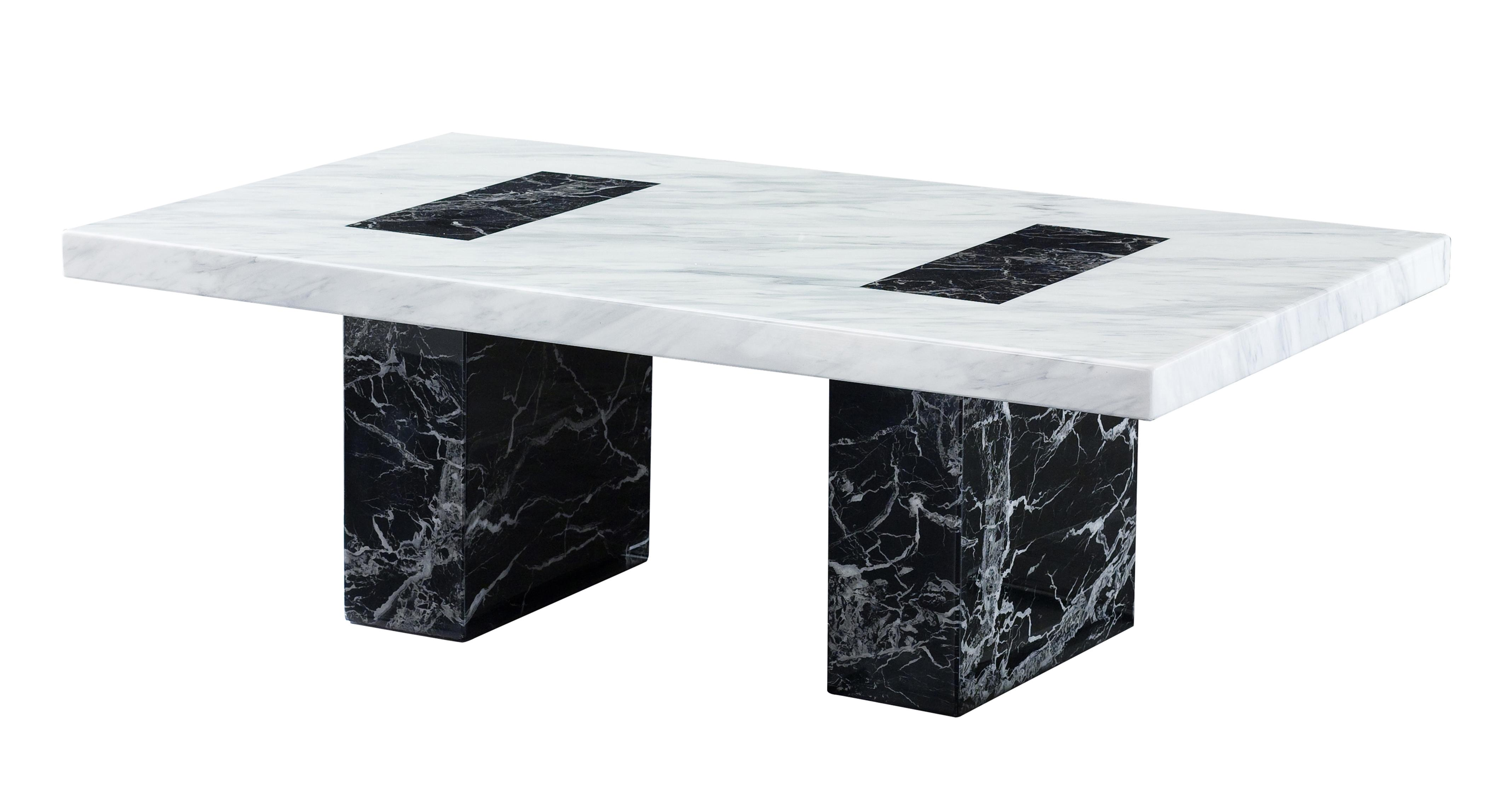 Vienna coffee table vienna marble dfs Black and white coffee table