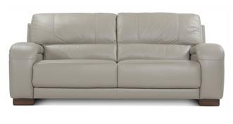 Vogue Leather and Leather Look 3 Seater Sofa