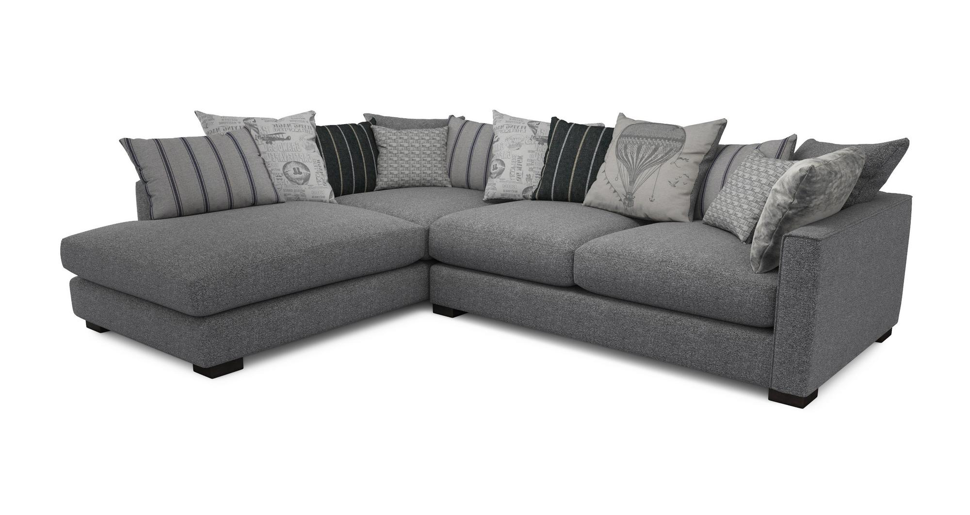 DFS Voyage Charcoal Grey Fabric Corner Sofa And Armchair EBay