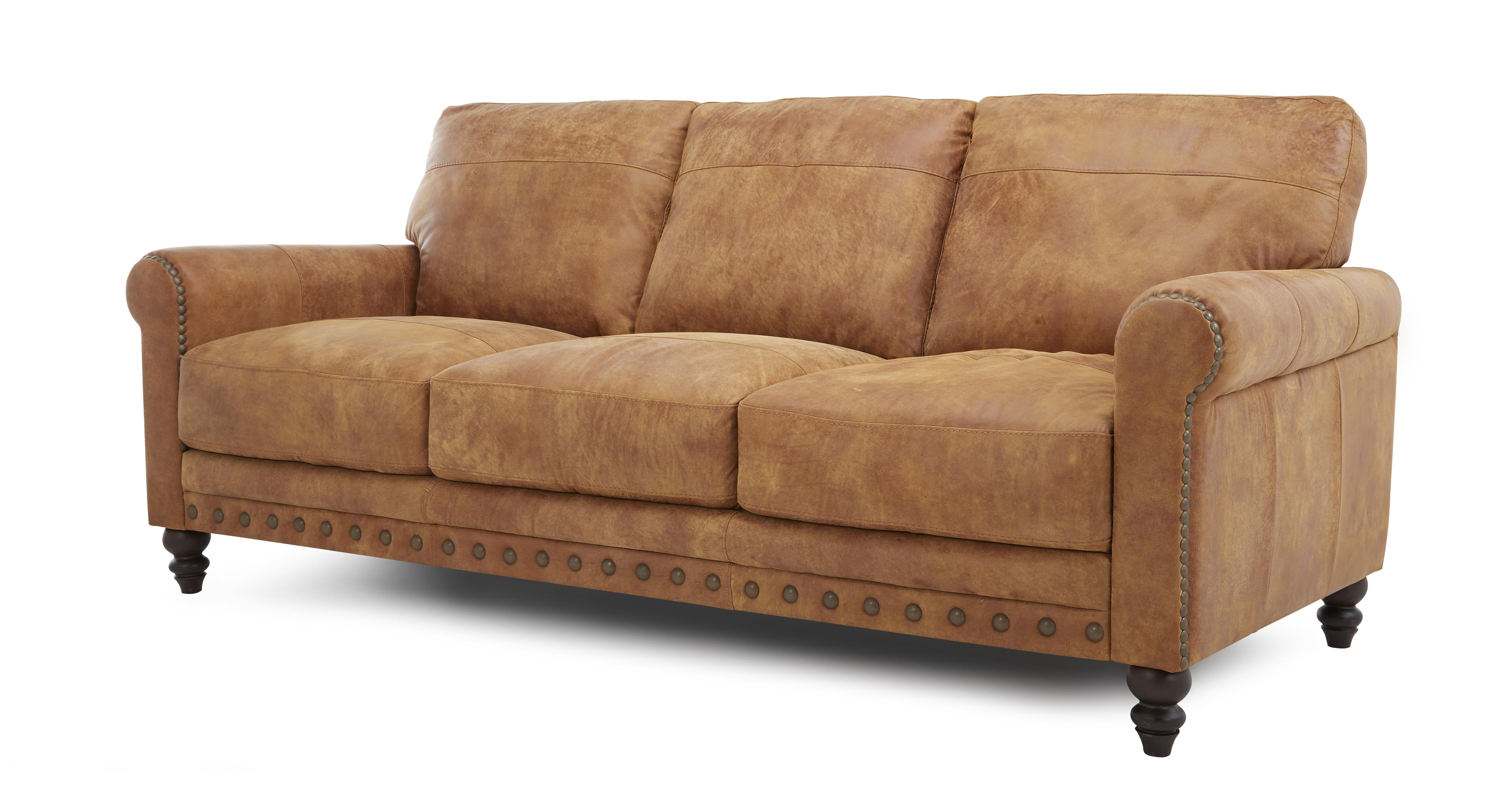 DFS Wade 100 Leather Set Inc 3 Seater Sofa 2 Seater Arm