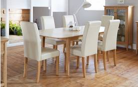 Windsor Extending Table & Set of 4 Cream Chairs Windsor