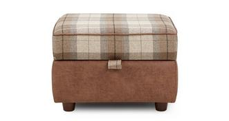 Woodland Check Top Storage Footstool