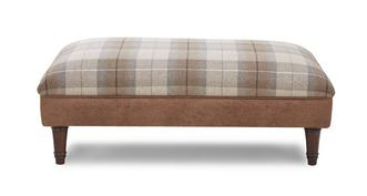 Woodland Check Top Large Footstool