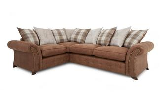 Right Hand Facing 3 Seater Pillow Back Corner Sofa