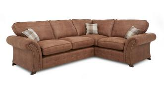 Woodland Left Hand Facing 3 Seater Formal Back Corner Deluxe Sofa Bed