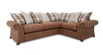 Woodland Left Hand Facing 3 Seater Pillow Back Corner Deluxe Sofa Bed